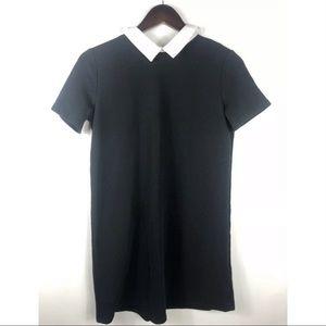 Zara Trafaluc Womens Sz S Black collared blouse